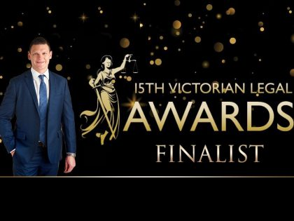 Tom Burgoyne - Finalist 15th Victorian Legal Awards